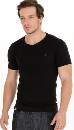 Camiseta Skinny Decote V REF PE2202
